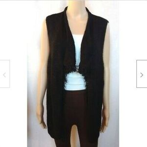 Chico's long sweater vest open front cardigan